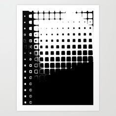 Black and White Boxes Art Print by White Box, Black And White, From The Ground Up, Buy Frames, Box Art, Poster Wall, Unique Art, Printing Process, Waiting