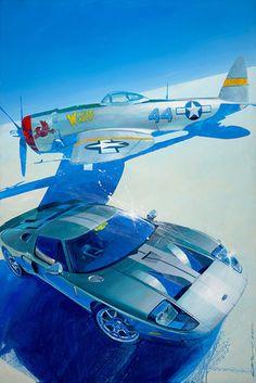 Camilo Pardo Art and Design Ford Gt40 1966, Car Illustration, Car Posters, Car Drawings, Car Sketch, Automotive Art, Car Painting, Sports Art, Retro Cars