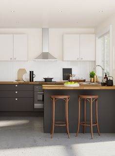 White kitchen with dark island what s the right kitchen layout for me kitchen white kitchen . white kitchen with dark island Refinish Countertops, Wooden Countertops, Kitchen On A Budget, New Kitchen, Kitchen Decor, Mini Kitchen, Kitchen Ideas, Design My Kitchen, Kitchen Cabinet Design