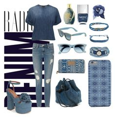 """Denim"" by beautifulchaosxx ❤ liked on Polyvore featuring Alima, Current/Elliott, Jeffrey Campbell, Frame Denim, Dsquared2, Vans, Ray-Ban, Platadepalo, Pura Vida and Diesel"