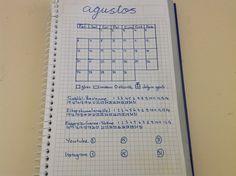 Bullet Journal ağustos ayı aylık plan ve habit tracker