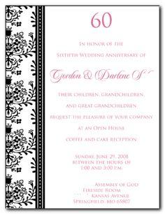 elegant gray diamond 60th anniversary invitation | 60th wedding, Wedding invitations