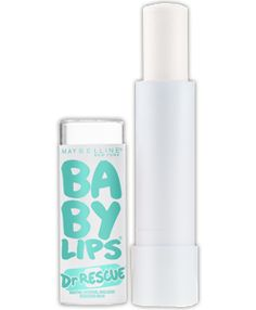 Baby Lips Dr Rescue® Medicated Lip Balm - Sore lips are rescued instantly – achieve visible lip renewal within 60 seconds! Moisture is sealed in for 12 hours. Maybelline Baby Lips, Lipgloss, Lipstick, Lip Makeup, Beauty Makeup, Drugstore Makeup, Makeup Brands, Makeup Tips, Sore Lips