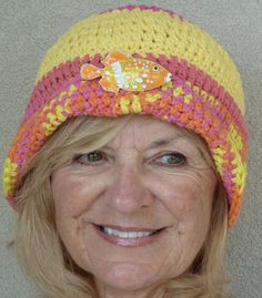 Woman Summer Hat Original Handcrafted Cotton Hat by hatsbyanne1942