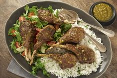 Serves: 4 Cook Time: minutes Ingredients 8 double cut Lamb Chops, about 2 – oz each 1 t Salt 1 t Pepper 2 T Olive Oil cup Mina Green Harissa Meth Roasted Lamb Chops, Lamb Meatballs, Preserved Lemons, Ground Lamb, World Recipes, Main Dishes, Beef, Stuffed Peppers, Cooking