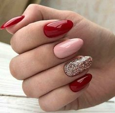 Glittery Red Valentine's Day Nail Art day nails 12 Super Cute DIY . - - Glittery Red Valentine's Day Nail Art day nails 12 Super Cute DIY … Valentines day Glittery Red Valentine's Day Nail Art day nails 12 Super Cute DIY Nail Designs Diy Pretty Nails, Cute Nails, Easy Nails, Valentine's Day Nail Designs, Nails Design, Valentine Nail Art, Valentine Nail Designs, Nails For Valentines Day, Oval Nails
