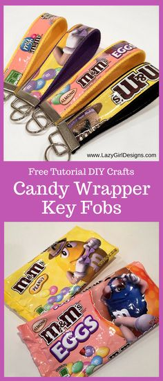 Free Tutorial: Easy DIY Candy Wrapper Key Fobs