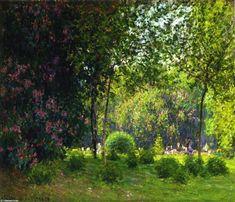 Le Parc Monceau (2), huile sur toile de Claude Monet (1840-1926, France)