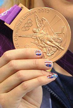 Nail Art-Swimmer Rebecca Adlington