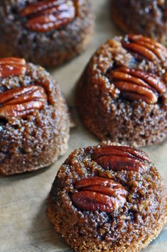 Sifting Focus - Upside-Down Maple Pecan Bran Muffins Recipe Muffin Recipes, Brunch Recipes, Sweet Recipes, Baking Recipes, Breakfast Recipes, Yummy Recipes, Breakfast Bites, Breakfast Menu, Bread Recipes