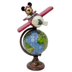 'Globetrotting Adventure' - Aviator Mickey Mouse with globe figure from Fantasies Come True
