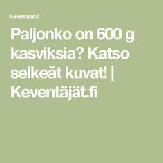 Paljonko on 600 g kasviksia? Katso selkeät kuvat!   Keventäjät.fi