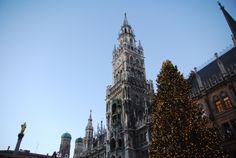 Marienplatz mit Weihnachtsbaum