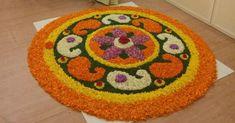 Rangoli Designs Flower, Colorful Rangoli Designs, Rangoli Designs Diwali, Diwali Rangoli, Flower Rangoli, Beautiful Rangoli Designs, Flower Designs, Ganesh Rangoli, Housewarming Decorations