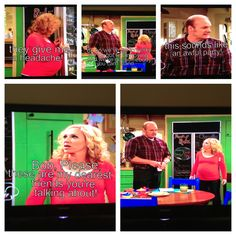 She was talking bad about her friends saying they we're too perky too annoying and she couldn't stand one of them but one was rich one was a great baker etc. So that's why she was inviting them! And her husband repeats it and she's all like these are my dearest friends you're talking about! Hahaha lol I love good luck Charlie!