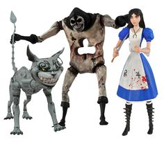 Awesome new collectibles from the wildly popular video game...Alice Madness Returns Select Action Figure Set of 3