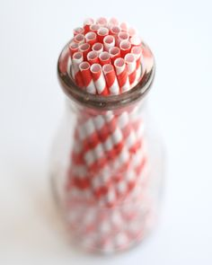 love striped s t r a w s!