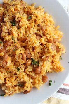 Mexican Rice and Beans  www.simplegreenmoms.com  #glutenfree #familyfavorites #20minutes