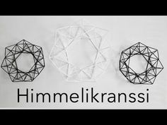 Tee se itse | Kranssi muovipilleistä | Himmelikranssi - YouTube Handmade Ornaments, Handmade Christmas, Diy Straw, Advent, Geometric Sculpture, Diy Hanging, Xmas Decorations, Diy Projects To Try, Diy Art