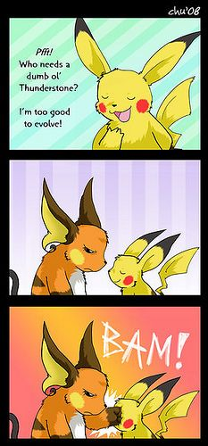 I am so sorry Raichu; the sad thing is when I was younger, I thought Raichu came BEFORE Pikachu. Mega Pokemon, Pokemon Pins, Pokemon Comics, Pokemon Funny, Pokemon Memes, Pokemon Craft, Pokemon Stuff, Pokemon Fusion, Pokemon Pictures
