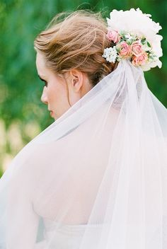 floral veil accessory