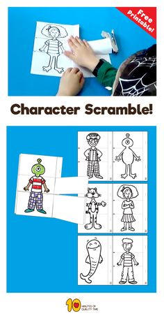 Fun Activities to do with kids at home - Character Scramble
