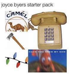 I've got everything except the camel but I don't feel any different. Is the camel crucial for a successful starter pack? Stranger Things Have Happened, Stranger Things Funny, Movies And Series, Movies And Tv Shows, Mouth Breather, Joyce Byers, Stranger Danger, Finding Nemo, Best Shows Ever