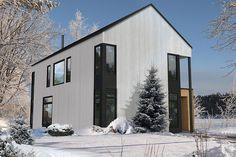 Chalet scandinave préfabriqué Cabin Design, House Design, Plan Chalet, Barn House Plans, Prefab Homes, Home Design Plans, Exterior Design, Future House, Modern Architecture