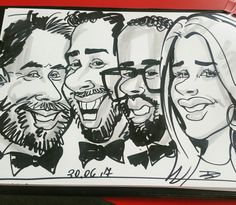 Caricature of one of the winners on the business award 2017 Aylesbury