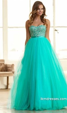 http://www.ikmdresses.com/2015-Sweetheart-A-Line-Tulle-Prom-Gown-Beaded-Bodice-With-Ribbon-Floor-Length-p82206