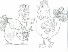Chic Chickens applique