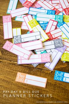 Download this free printable Bill Due & Pay Day planner stickers to keep track of your income and bills!