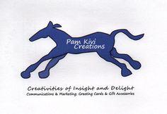 Logo Design of Pam Kivi Creations. Graphic Design I Brand I Animal I Horse I Illustration