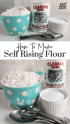 No self rising flour? Check out how to make self rising flour substitute using only 3 ingredients perfect for baking and cooking. Self Rising Flour Substitute, Make Self Rising Flour, Homemade Biscuits Recipe, Biscuit Recipe, Baking Flour, Bread Baking, Flour Recipes, Bread Recipes, Yummy Recipes
