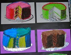 Thiebaud cakes - tints and shades