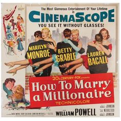 How to Marry a Millionaire original U.S. six-sheet poster