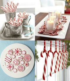 Christmas - christmas Ornaments - Christmas handmade decorations. Decorating with candy canes. redwhite