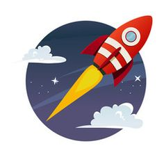 The Rocket Hike Wall Decal brings a touch of wonder to a wall. Great for a kids' room or play space this wall decor is an easy fit with a variety of design styles. Space Party, Space Theme, Daddy Tattoos, Rockets Logo, Rocket Design, Timeline Design, Painting For Kids, Kids Decor, Larp