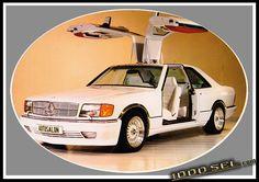 Mercedes Benz Gullwing by Auto Salon Mercedes W126, Motors, Garage, Classic, Vehicles, Style, Carport Garage, Derby, Swag