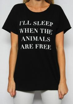 When The Animals Are Free Rocker Tee // The Tree Kisser