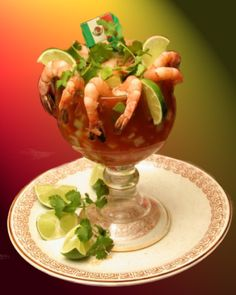 the shrimp cocktail Mexican dish also requires 2 avocados, 2 cucumber, 1 medium sized red onion, ½ bunch cilantro, 1 jalapeno and the most important product, 1 pound large shrimp peeled and steamed. While giving the steam to the shrimp, make sure the shrimp does not get over heated because this something none of us want to waste