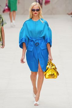 """Subtle ombre outerwear, caplets, """"Look Ma, no pants"""" at Burberry SS13. #Swoon. xoxo"""