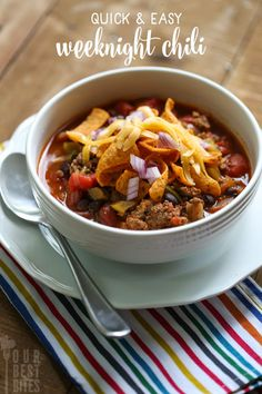 Tyler's favorite — Easy Weeknight Chili from Our Best Bites