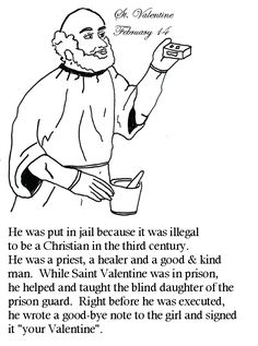st valentine coloring pages catholic church   St. Valentine: for Sunday school - we printed these for ...