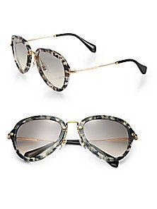 Miu Miu - Teardrop 53MM Aviator Sunglasses