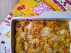 Baked pasta with, sausage, zucca and Bellavalle cheese
