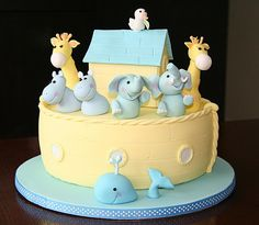 Noah's Ark Baby Shower cake | Inspired by Debbie Brown cake … | Flickr