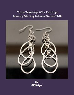 Jewelry Making Tutorials  Learn How To Make Jewelry - Beading & Wire Jewelry Classes : DIY Triple Teardrop Wire Earrings Tutorial