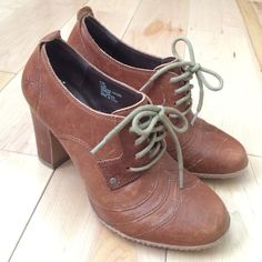 "Frye Adrienne Oxford booties Gorgeous Frye high-heeled laced booties. All brown leather, 3.5"" heel. Only worn a few times and in great condition. 6.5M. Frye Shoes Ankle Boots & Booties"