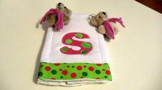 Embroidery Baby Burp Cloth  Tiny Bubbles Alphabet by kalliescotton, $10.00
